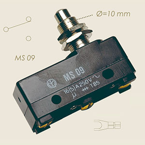 micro MS09 pulsante filettato piccolo